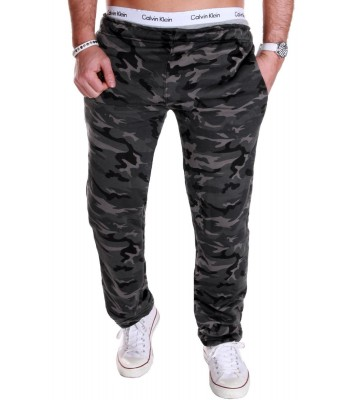 RMK Mjukisbyxa camouflage mörk