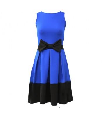 Klänning blå och svart