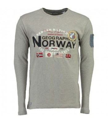 Geographical Norway T-shirt Jarbone grey