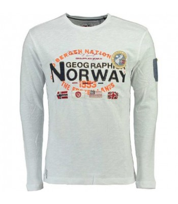 Geographical Norway T-shirt Jarbone white