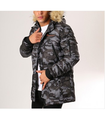 Geographical Norway Bravici Men Camo Black