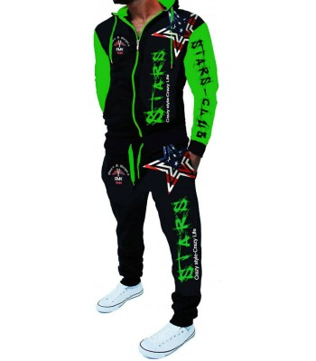 Sportsuit Stars 2256 Black and Green