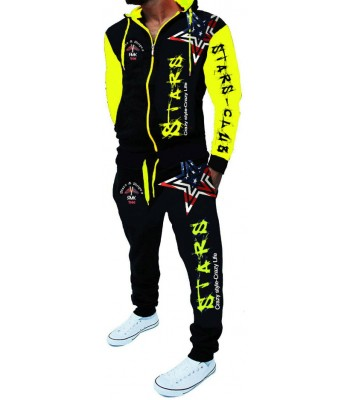 Sportsuit Stars 2256 Black and Yellow