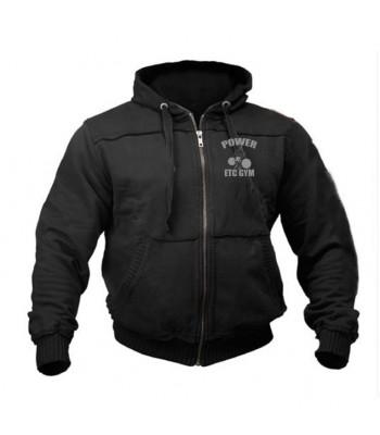 Sports Zip up Raw style Hoodie ETC GYM
