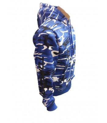 Hoodie Blue Camouflage