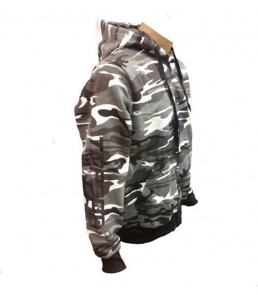 Hoodie Gray Camouflage