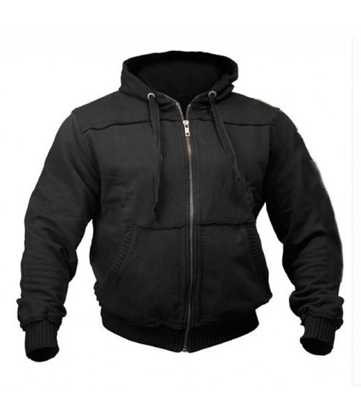 Sports Zip up Raw style Hoodie