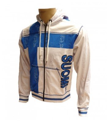 Sports Zip up Raw style Hoodie Suomi