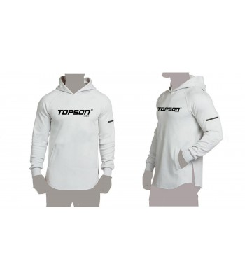 Pullover Hoddie White with zip on arm