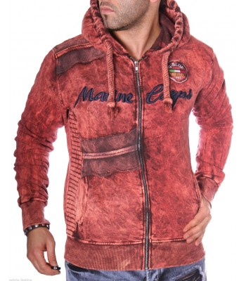 Hoodie G-blue United Red