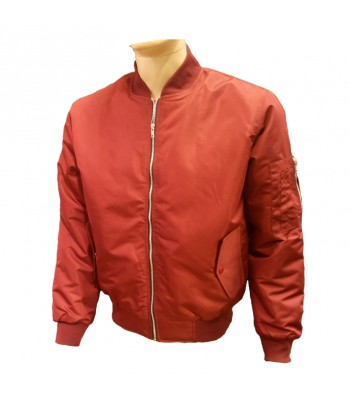 Red Bomber jacket