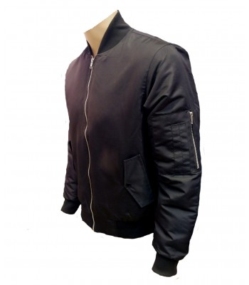 Black Military Air Force MA-1 Bomber jacket