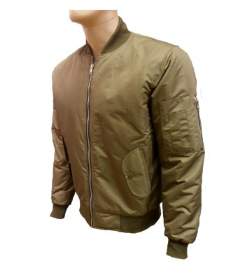 Green Military Air Force MA-1 Reversible Bomber jacket