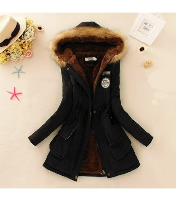 Women Parka Jackets Black