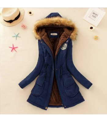 Women Parka Jackets Darkblue