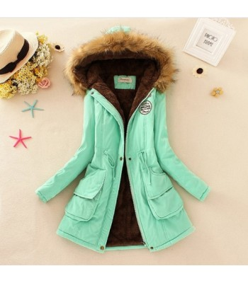 Women Parka Jackets Green