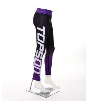 Fitness Leggings Black and Purple