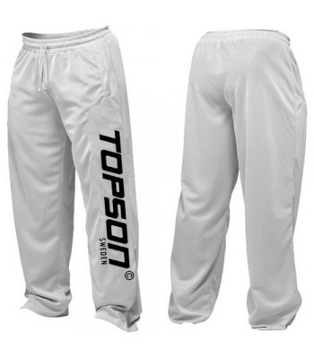 Men's Mesh Fitness Gym Pants White