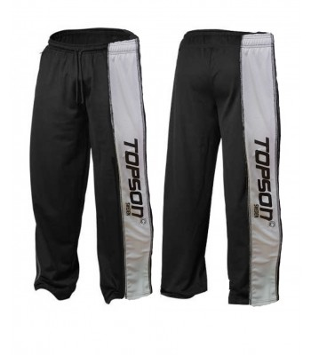 Men's Mesh Fitness Gym Pants Black with gray stripes