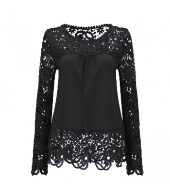 Blouse black with lace