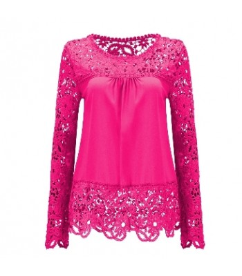 Blouse pink with lace