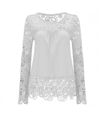 Blouse white with lace