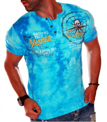 T-shirt design Monte Carlo light blue