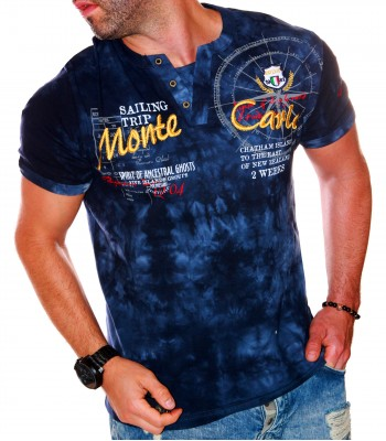 T-shirt design Monte Carlo dark blue