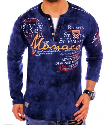 T-shirt violento design Monaco dark blue