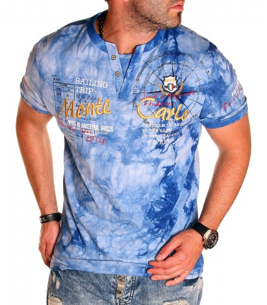 T-shirt design Monte Carlo Blue