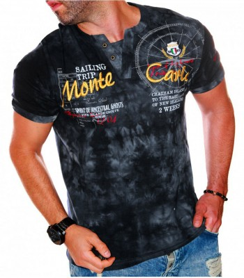 T-shirt design Monte Carlo dark gray