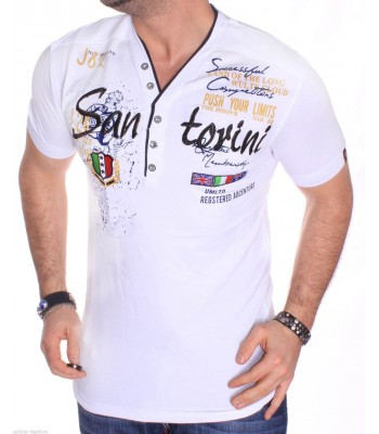 T-shirt design San Torini white