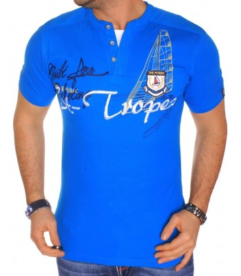 T-shirt design St-Tropez blue
