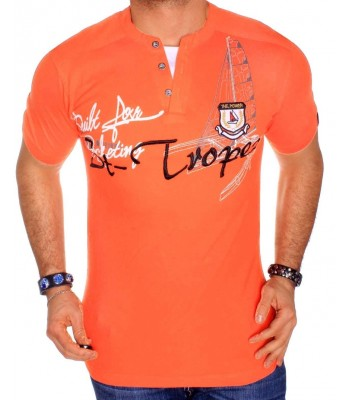 T-shirt design St-Tropez orange