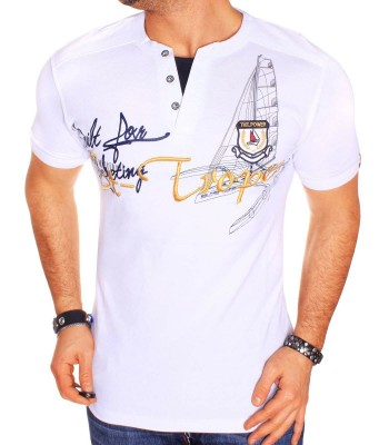 T-shirt design St-Tropez White