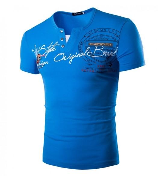 T-shirt design blue