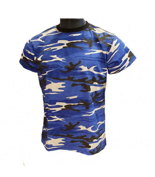 T-shirt Blue Camouflage new version