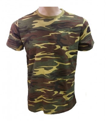 T-shirt Green Camouflage with army print