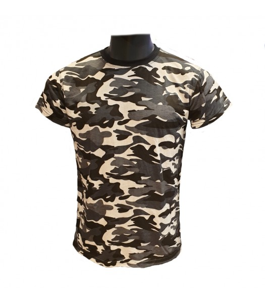 T-shirt Gray Camouflage new version