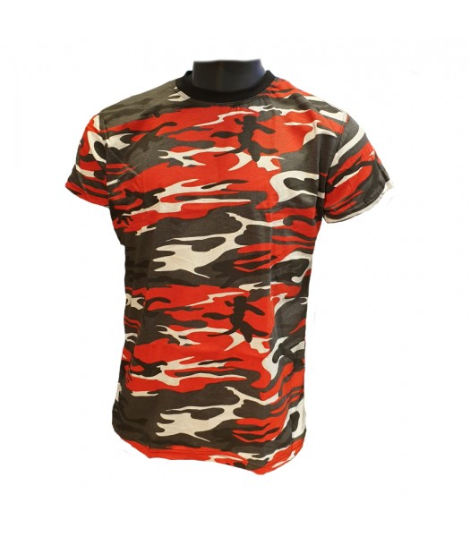 T-shirt Red Camouflage new version