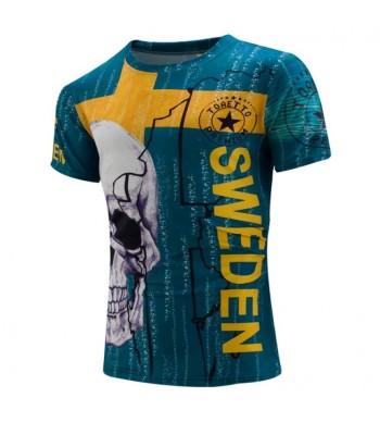 T-shirt Sweden Skull