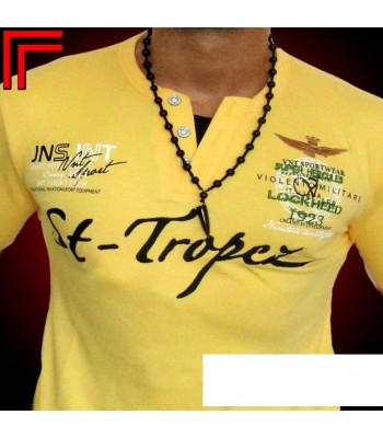 T-shirt Violento design St-Tropez yellow