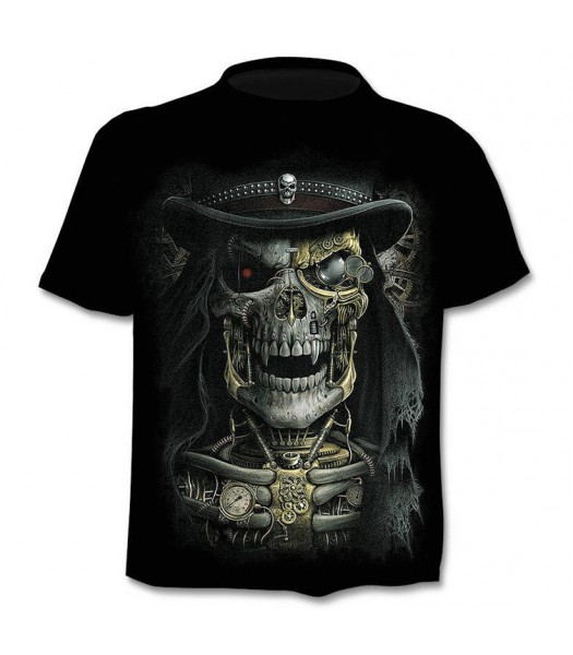 T-shirt 3D Skeleton Hat