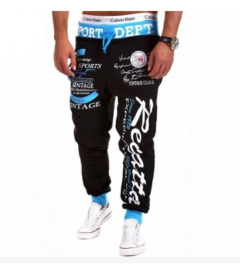 Street And Harem Pants Black and blue