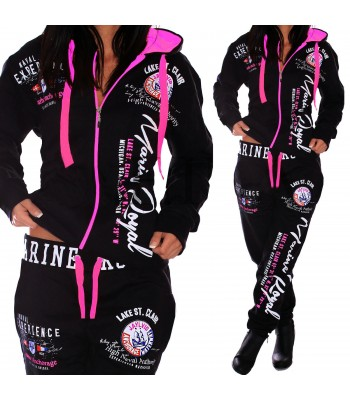 Sportsuit black and pink