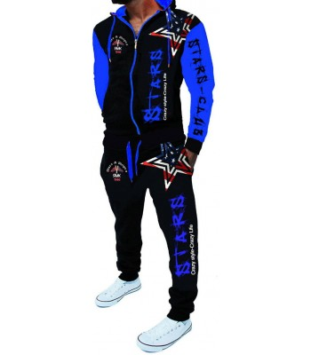Sportsuit Stars 2256 Black and Blue