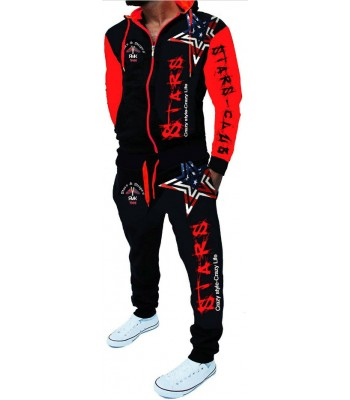 Sportsuit Stars 2256 Black and Red