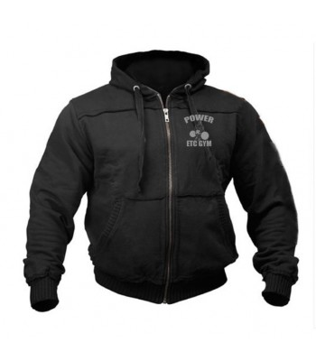Sports Zip up Raw style Hoodie ETC GYM