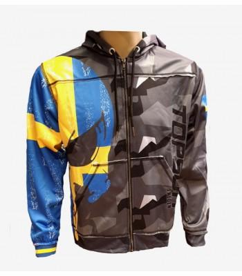 Sports Zip up Raw style Hoodie Sweden ver. 3