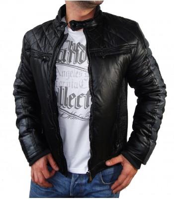 Biker Winter Jacket Leather Imitation